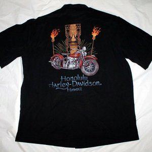 Harley-Davidson Mens Honolulu Hawaii Button Front